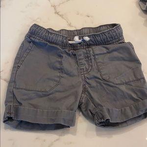 Gray cargo shorts